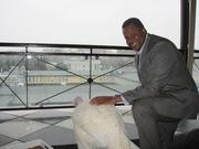 Ed Baten, general manager of The W Washington, had the chance to host not one but two of Washington's most exclusive Thanksgiving Day guests: the about-to-be-pardoned presidential turkey and his alternate. The turkeys enjoyed a pre-pardoning photo op Nov. 22 before retiring to their custom suite for the evening.