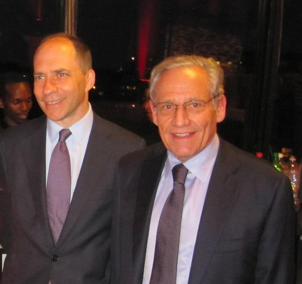 Marcus Brauchli, left, with Bob Woodward at an event commemorating the 40th anniversary of the Watergate scandal.