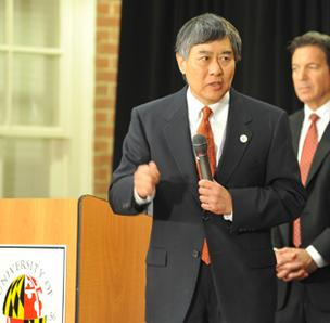 University of Maryland President Wallace Loh announced Monday the school will join the Big Ten conference.
