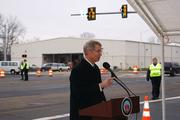 The City of Manassas officially completed its Wellington Road Widening Project between Godwin Drive and Nokesville Road Jan. 11. Manassas Mayor Hal Parrish spoke at the road's ribbon cutting for the 4,100-foot road.