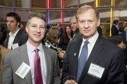Kenneth Schwartz, left, of Arnold & Porter LLP with John Gibb from Jones Lang LaSalle.
