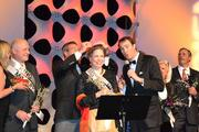 Ruth Jansson is crowned onstage at the 2011 Builders' Ball.