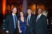 From left, P. Martin Sharpless, vice president of Gilbane Building Co. in Arlington; Melissa McEwen; David Schoenwolf, senior vice president of McLean-based Haley & Aldrich; and Wendell Holmes, senior vice president of the Mid-Atlantic region at Gilbane Building Co.