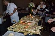 Chef Guillermo Pernot serves a pickled pig and clam dish from his Penn Quarter restaurant Cuba Libre.