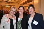 From left, Margaret O'Bryon, president and CEO of the Consumer Health Foundation; Jennifer Lockwood-Shabat, vice president of the Washington Area Women's Foundation; and Nicky Goren, president of the Washington Area Women's Foundation.