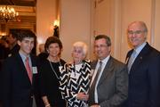From left, Jake Bradt; Diane Tipton, owner of CE Group LLC; Ann Bradt; David Bradt Jr., chair of the board of trustees and managing director of the D.C. office of WTAS; and George Vradenburg, president of the Vradenburg Foundation.