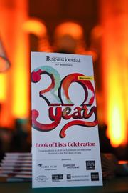 The Washington Business Journal's Book of Lists Party also celebrated WBJ's 30th anniversary.