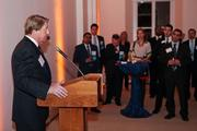 Chase Rynd, executive director for the National Building Museum, spoke to guests of the VIP reception.