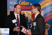 Matthew Levin-Stankevich of UWNCA, left, and Elliot Gruber of United Way NCA.