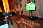 Nintendo's Wii was set up on big-screen TVs for guests to get in touch with their competitive sides.