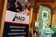 The National Association of Corporate Directors, or NACD, had a booth at the event.