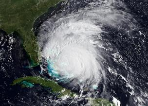 This NOAA GOES-East satellite imagery taken on Aug. 25 shows Hurricane Irene is not weakening. Irene appears to be going through an eye-wall replacement cycle.