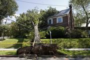 Hurricane Irene interrupted electrical service for more than 7 million people up and down the East Coast. Here, a tree fell across the top of a house and utility lines on Reno Road in Washington.