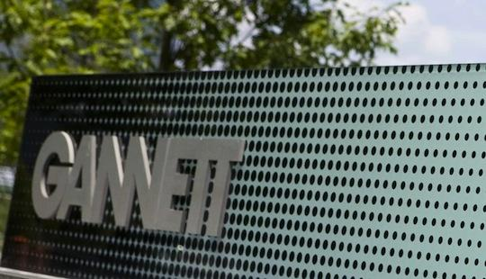 Shares of McLean-based Gannett Co. Inc. rallied as much as 26 percent in early trading Thursday on news it would nearly double its television broadcasting business.