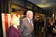 Vermont Sen. Patrick Leahy with his guest on the red carpet.