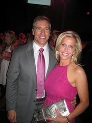 """There was a flood of pink flowing into the Howard Theatre June 19 for  the annual Newsbabes Bash for Breast Cancer, the annual effort by some  of the area's favorite TV """"newsbabes."""" Taking part in the power of  the pink were Dan Merrill of The JBG Cos. and Meredith Merrill of  WTOP/Federal News Radio.See more photos from the June 29, 2012 edition of The Back Page Extra."""