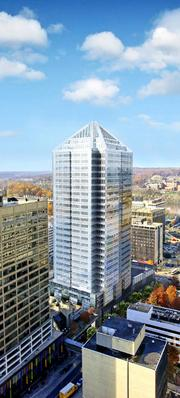 Goldman Sachs & Co. paid $1.2 billion for a Rosslyn portfolio including 1812 N. Moore St., which is under construction in Arlington County.