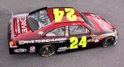 NASCAR driver Jeff Gordon's AARP paint scheme was released this month. Co-sponsors can buy space on the car to support the hunger drive.