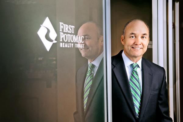 First Potomac Realty Trust CEO Doug Donatelli outlined plans Thursday to transform his Bethesda-based real estate investment trust into one of the region's largest high-end office owners.