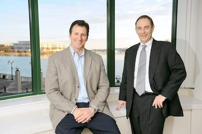 After leaving Trammell Crow Co. and starting Sage Real Estate Partners during the recession, principals Steve Shelesky, left, and Dave Wilson, knew they were taking a big risk, but to their surprise almost immediately lassoed a big deal.