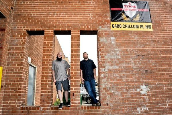 Dave Coleman, left, and Mike McGarvey are getting reedy to open 3 Stars Brewery, which will not only brew its own beers but also provide supplies to home brewers.