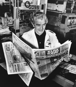 Al Neuharth was the driving force behind the creation of USA Today, modeled after Gannett's Florida Today publication.