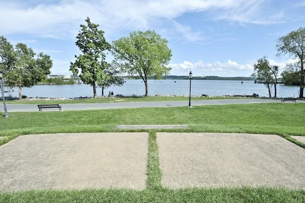 Oronoco Bay Park, now a large grassy area, will get an ampitheaterlike performance space under Alexandria's landscape portion of the waterfront master plan.