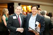 More than 400 Washington-area executives joined Helios HR for its 2012 Apollo Awards, held May 30 at the McLean Hilton. The awards honor organizations that excel at building cultures which emphasize employee development. Enjoying the event were Gordon Bernhardt of Bernhardt Wealth, left, and Tien Wong of Lore Systems.