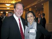 A warm welcome on a cold, cold day The Greater Washington Board of Trade gathered its members Jan. 7 for its 125th annual meeting, held at the Capital Hilton. Here's Chuck Bean of the Council of Governments with Diana Taylor-Leon of The Nonprofit Roundtable of Greater Washington.