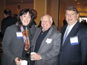 A warm welcome on a cold, cold day The Greater Washington Board of Trade gathered its members Jan. 7 for its 125th annual meeting, held at the Capital Hilton. From left, Cary Hatch of MDB Communications, Edward Levin of  Saul Ewing LLP and Gary Tabach of Deloitte LLP.