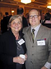 A warm welcome on a cold, cold day The Greater Washington Board of Trade gathered its members Jan. 7 for its 125th annual meeting, held at the Capital Hilton. Here's Barbara Mullenex of Perkins Eastman with Josh Carin of Geppetto Catering.