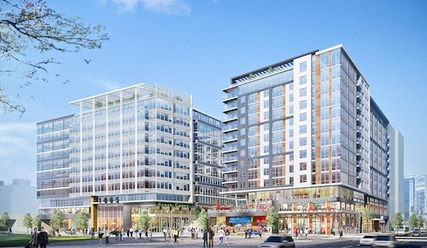 First Potomac plans to redevelop the Greyhound site in NoMa into Storey Park, featuring 712,000 square feet of office, retail and residential space.