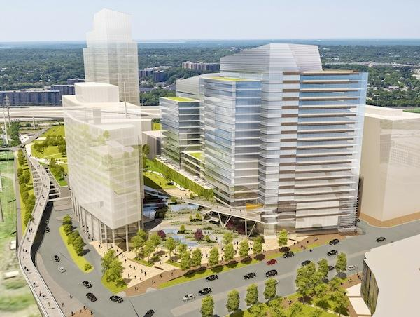 Carlyle Plaza Two could be the National Science Foundation's new home if Alexandria has its way. The project could potentially emerge as one of the city's tallest buildings.