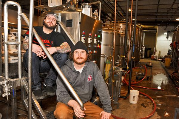 "Brandon Skall, left, and Jeff Hancock want to make DC Brau ""the official beer of D.C."""