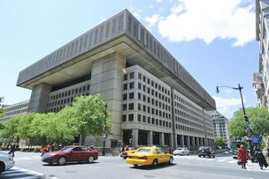 Developers could get the chance to redevelop the J. Edgar Hoover building at 935 Pennsylvania Ave. NW in exchange for building the FBI a new headquarters.