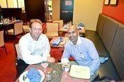 Jason Page of Strategic Intelligence Group, left, and Mariya Anthony Irudhayanathan of Zillion Technologies Inc.