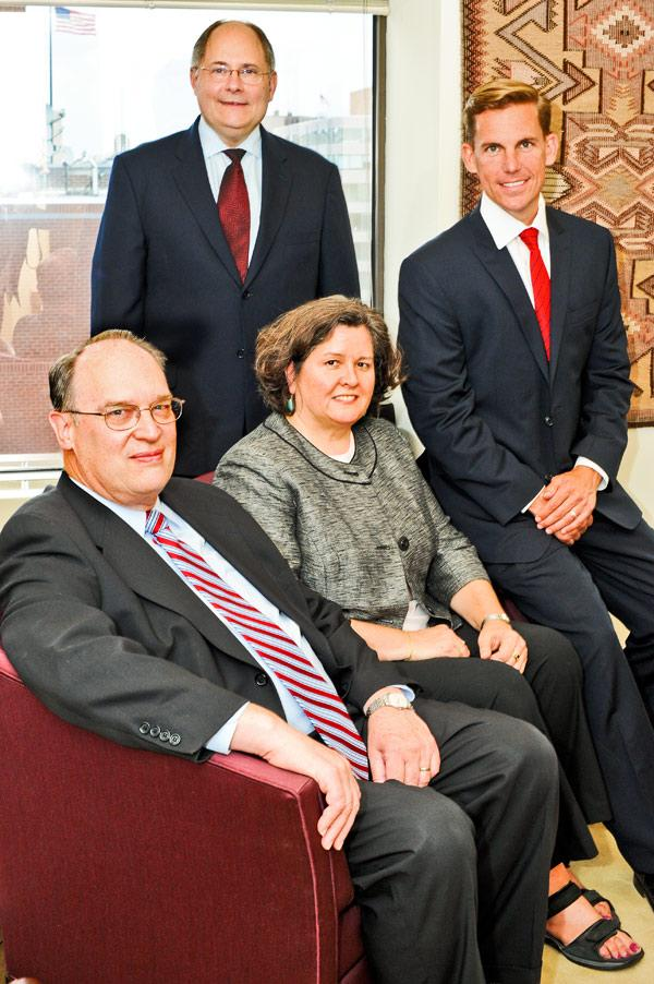 Law firm Foster, Murphy, Altman & Nickel was formed this spring  to focus entirely on the high-paying field of patent law at the International Trade Commission. The founders are, from left, David Foster, James Altman, Barbara Murphy and David Nickel.