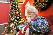 Santa Claus makes his appearance for photo seekers at Gaylord's festivities.