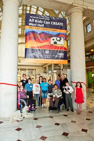 Union Station was the showcase for art from students nationwide in a CVS and VSA program.