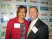 Debbi Jarvis of Pepco Holdings and Brendan Hurley of Goodwill of Greater Washington.