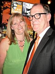 Anne Corbett of Cultural Development Corp. with husband Sam Sweet of the Atlas Theater.