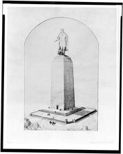 Another proposal from Vinnie Ream Hoxie, a sculptor from Virginia, would have topped the obelisk where construction stopped with a giant statue of Washington.