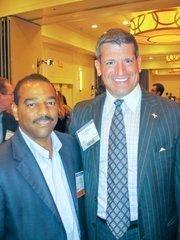 Amiel Bent of Stanford Venture Advisors, left, with Steve Abramowitz of BDO.