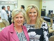 Kathy Benson of ORI, left, with Melanie Coburn of Cadre.