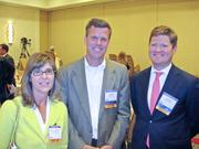 From left, Kathryn Collings Laing of U.S. Boston Capital Corp., Doug Gilbert of DFW Capital Partners and Joe Burkhart of Saratoga Investment Corp.