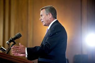 "Republican House Speaker John Boehner is ruling out tax increases and ""short-term"" fixes to the sequestration puzzle, but pledged to work with Obama to grow the economy."