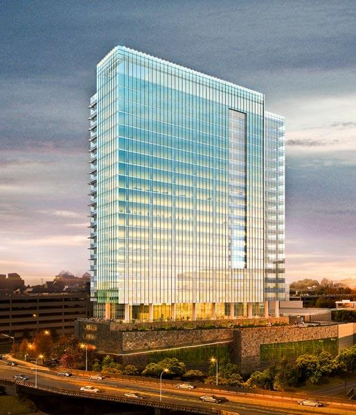 Intelsat is close to a deal to relocate from D.C. to Tysons Corner,  where it would anchor a skyscraper being developed by Macerich.