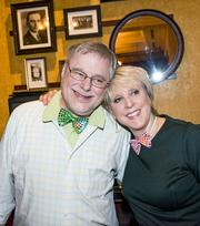 Goodbyes and bow ties The invitation for the party said it best: The Man About Town is leaving town. After five decades in the radio business, WTOP's Bob Madigan has retired. The crowd packed into Carmine's Jan. 11 as a testament to what an institution he is. The Man About Town and man of the hour, Bob Madigan, with party co-host Jill Collins of Jill Collins Public Relations, both sporting the signature Madigan bow ties.
