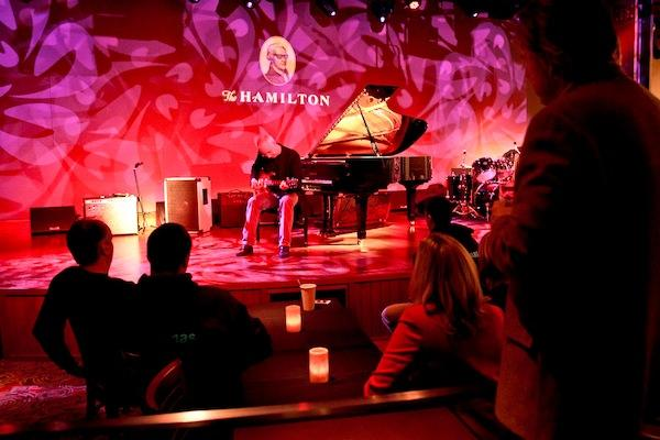 The Hamilton restaurant in D.C., one of the spots in the local supper club revival, puts musicians on stage in the restaurant's basement. Concert-goers are served shareable finger food, such as sushi and pizza.