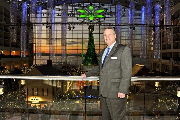 Gaylord National Hotel Manager Bob Moore aims to transform what's traditionally the quietest time of the year into a revenue-generating winter wonderland at the National Harbor hotel.